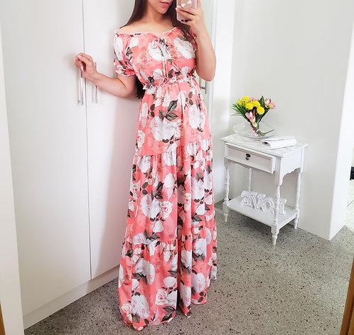 Conjunto floral (saia longa + cropped)