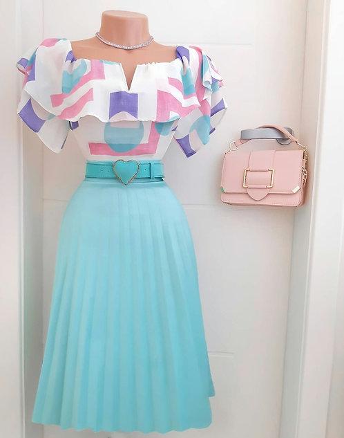 Blusa Alice lilás .