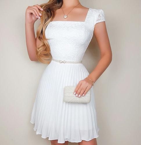 Vestido Cinderela Branco curto
