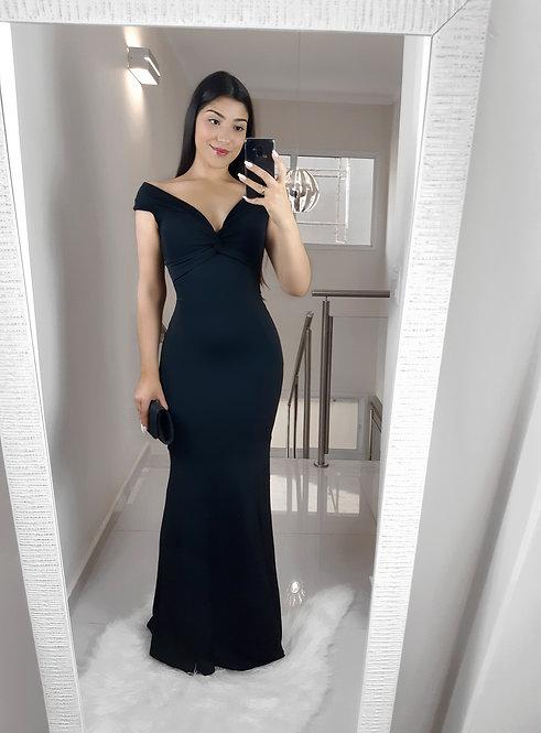 Vestido Helena preto.