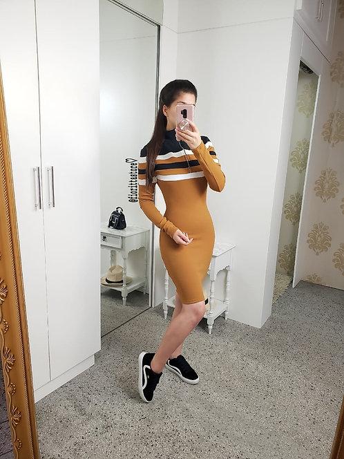Vestido tubinho caramelo reco