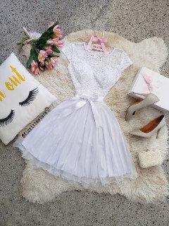 Vestido Elsa Branco.