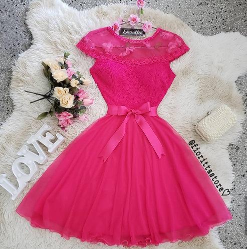 Vestido pink tule princesa