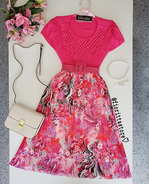 Blusa Pink detalhes pérolas