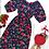Thumbnail: Vestido longo flores vermelhas