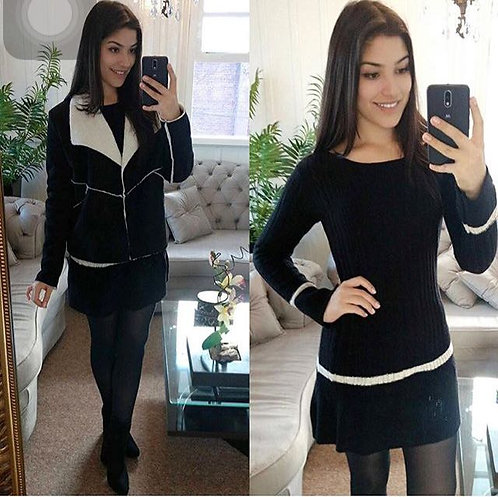 Vestido lã preto