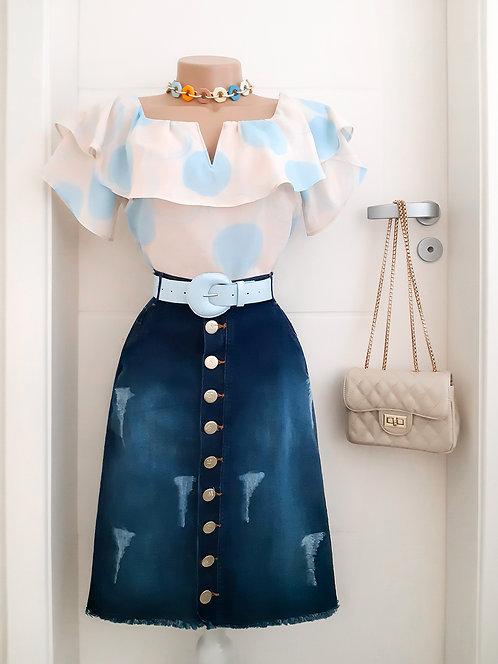 Blusa Alice azul