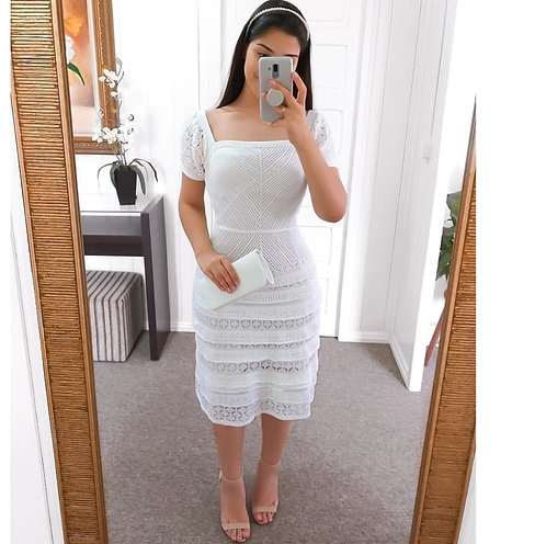Vestido branco tricot