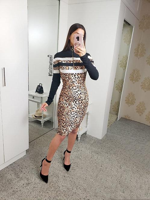 Vestido tubinho tigresa ziper