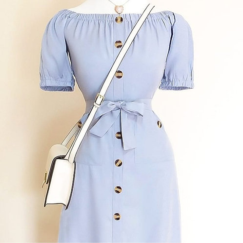 Vestido azul serenity midi