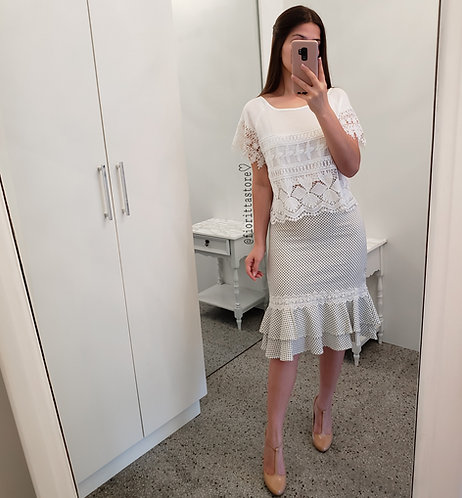 Blusa branca guipir