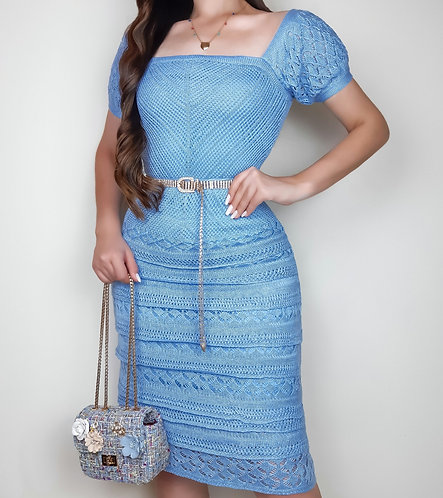 Vestido Laura azul serenity.