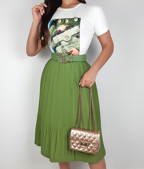Tshirt Clara verde.