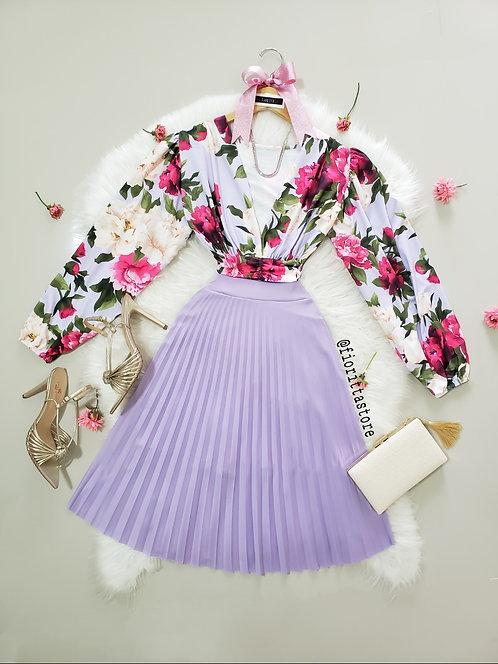 Body Floratta fundo lilas