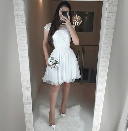 Vestido Ariela Branco.