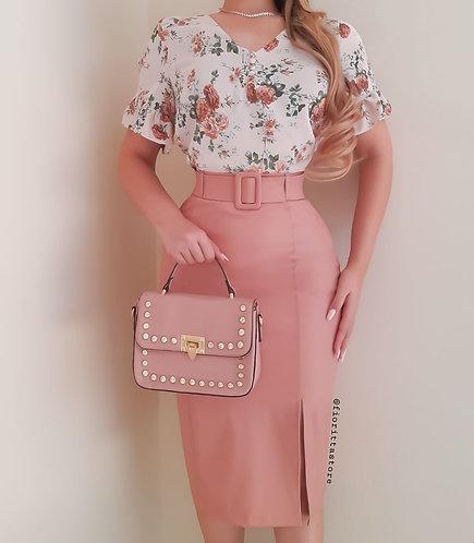 Blusa Lúcia floral Rose.