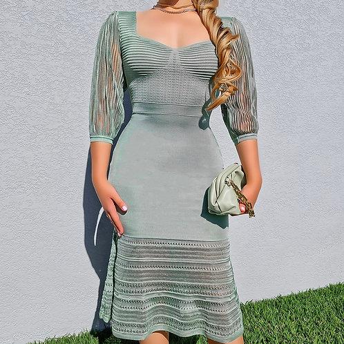 Vestido Valentina verde mint.