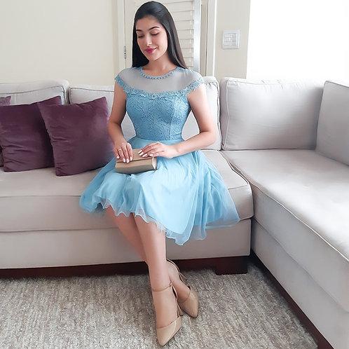 Vestido Ariela azul serenity