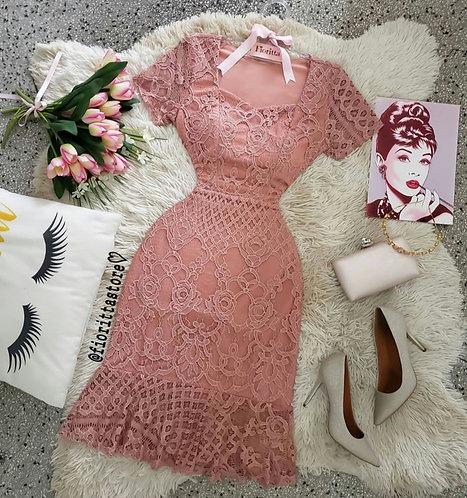 Vestido Raquel rose.