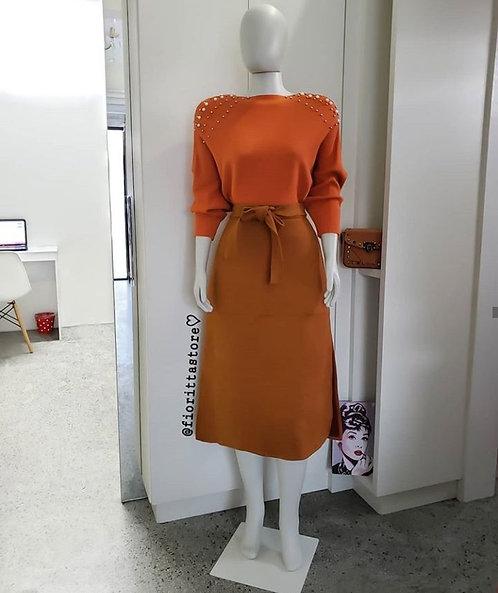 Blusa  tricot laranjada