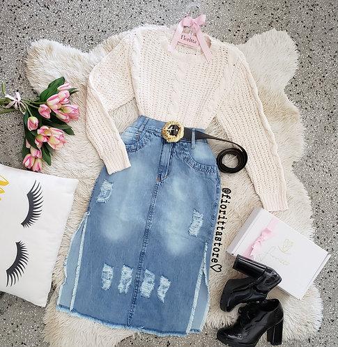 Blusa off tricot