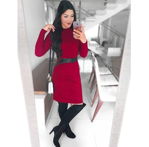 Vestido marsala tricot modal