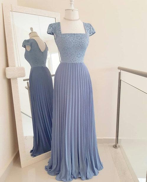 Vestido Cinderela azul serenity