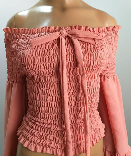 Blusa rosa queimado.
