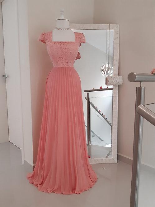 Vestido Cinderela Coral
