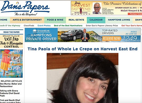 Whole Le Crepe Dan's Papers Long Island Tina Paola, Long Island Food Truck Catering, Organic Caterer Long Island, Organic Wedding catering Long Island, Food Truck Catering Long Island, #1 Food Truck Long Island, Farm Fresh Food Truck Long Island