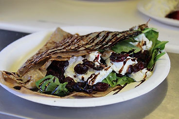Whole Le Crepe Spinach Cranberry and Goat Cheese Crepe Long Island Food Truck Catering, Long Island Food Truck Wedding Catering, Food Tuck Catering Long Island, Wedding Catering Long Island, Specialty Catering Long Island, Long Island Food Trucks