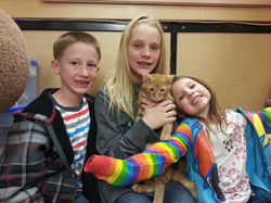 Copper with his new family