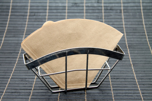 Coffee filter in a basket