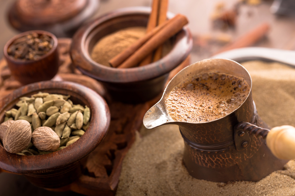Cardamom in coffee