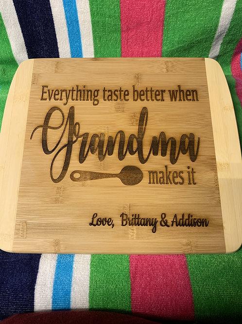 Grandmother cutting board