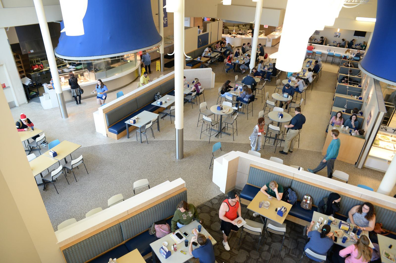 overview of Osprey Cafe from second floor