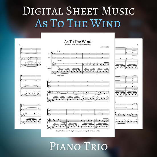 As To The Wind - Piano Trio - Score and Parts