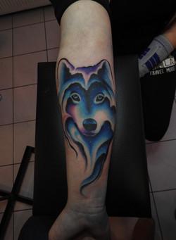 Galaxy Wolf Tattoo