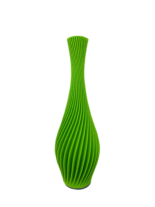 Spiral Vase Green