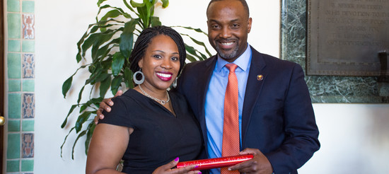 Passing the baton - Dr. Fry Brown and Dr