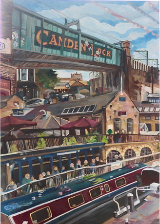 Oil Painting: Camden Triptych