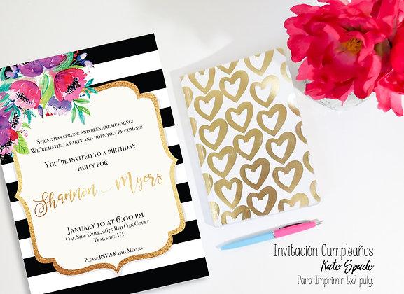 Invitación Cumpleaños Kate Spade