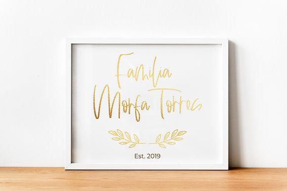 Diseño para Enmarcar - Familia