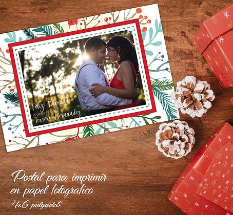 Postal de Navidad - Ramos Verdes