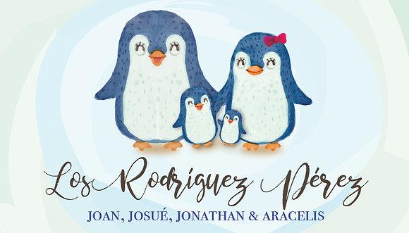 Tarjeta Familiar Pingüinos