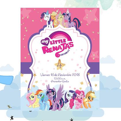 Invitación Cumpleaños My Little Pony