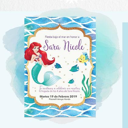 Invitación La Sirenita