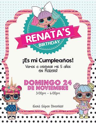 Invitación Cumpleaños LOL