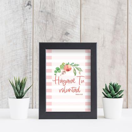 Diseño para Enmarcar - Flores Rosadas