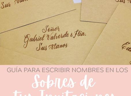 Cómo escribir los nombres en tus invitaciones de boda